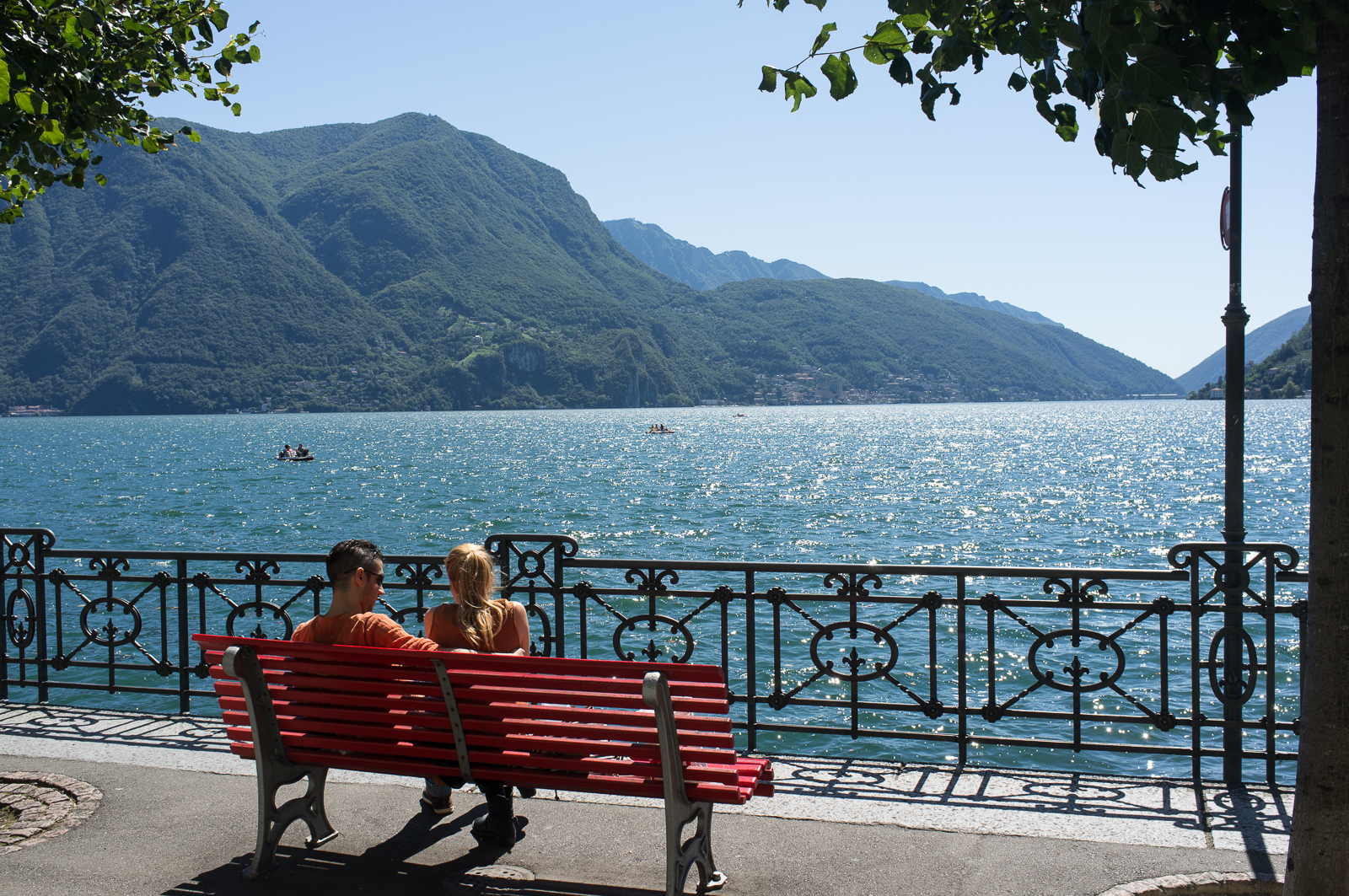 By the Lugano Lake