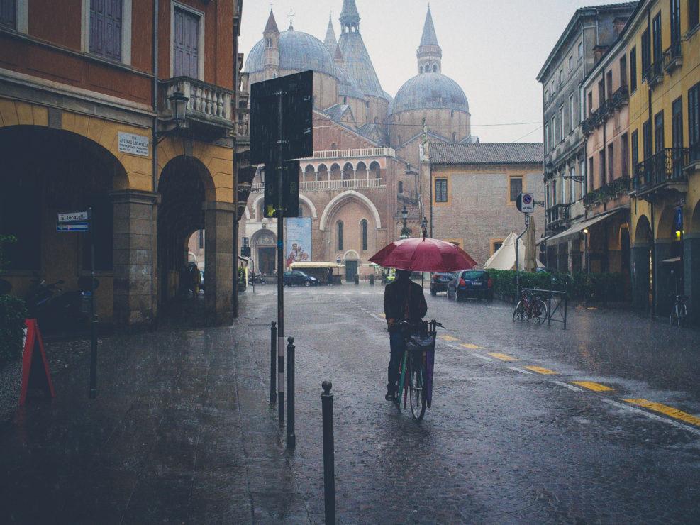 Padua in the rain