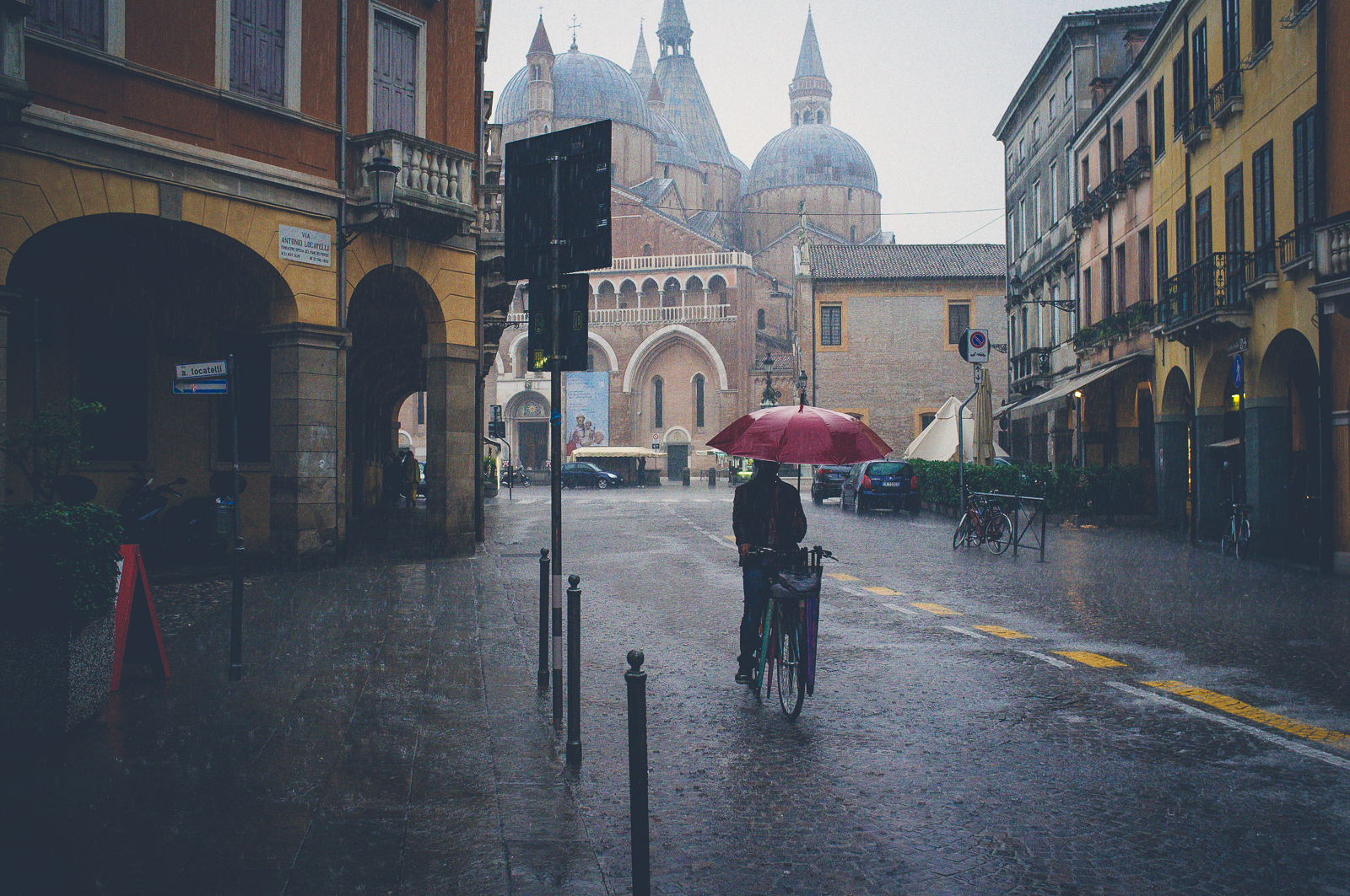 Padua in the rain