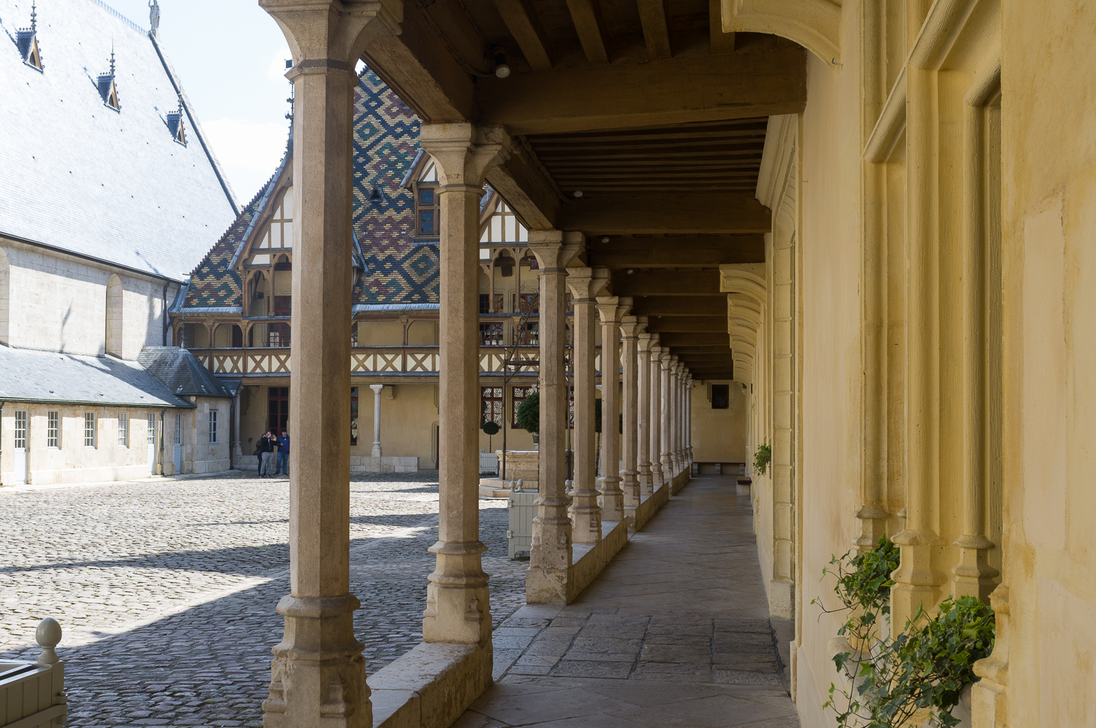 Courtyard view, Hospice de Beaune