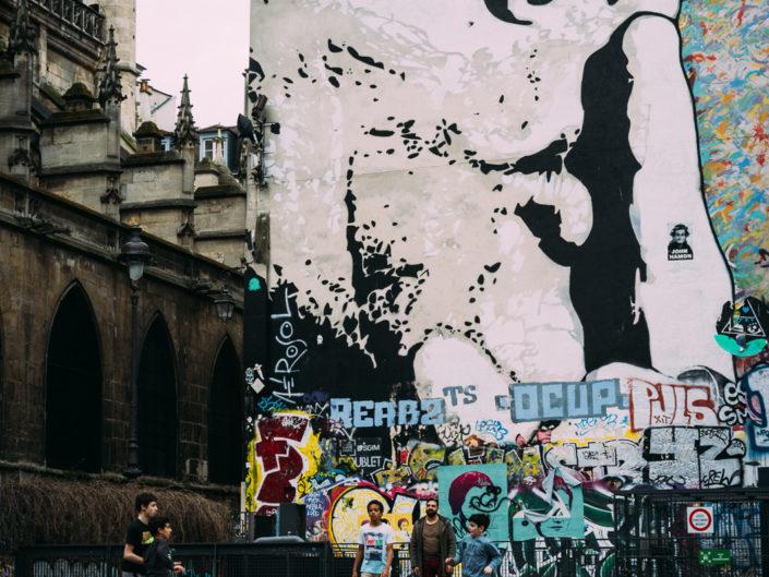 Near Centre Pompidou (Fountain Stravinsky)