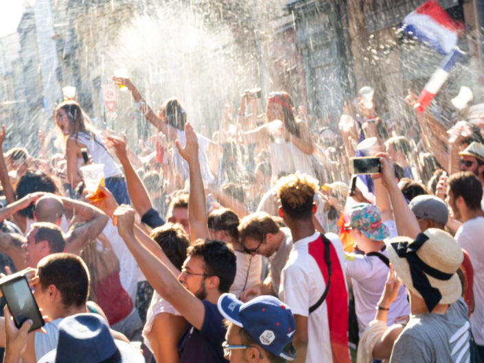 Rue des Ayres, Bordeaux - the moment France became Champions of the World - FIFA World Cup 2018